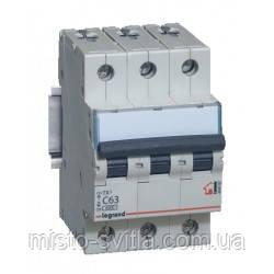 Автоматичний вимикач TX3 16А 3п 6кА C (автомат) Legrand Легранд