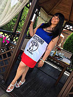Жіноче плаття-майка  батал (Платье в стиле Maschino батал)