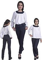 Блузка детская для девочек  М-1094  рост 140-170 белая , фото 1