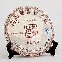 Чай Шу пуэр (Шу Пу Эр) с ароматом фиников (Цзао Сян Ча Бин), 400 г (50 грамм)