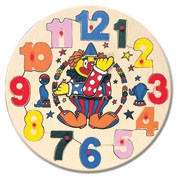 Пазл часы с клоуном Bino