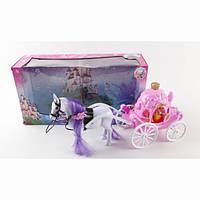 Детский игровой набор Карета, лошадь с каретой и куклой