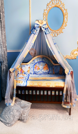 Детское постельное белье. Балдахин - ткань-сетка. Высокая защита