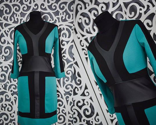 Изумительное женское платье приталенного силуэта 42 размер норма, фото 2