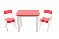 *Набор детской мебели - столик и 2 стульчика (красный) арт. 096