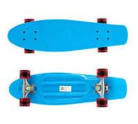 Скейт Пенни борд (Penny board) прозрачные колёса круизёр