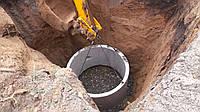 Выгребная яма из бетонных колец. Устройство сливной ямы. Выгребная яма в частном доме. Устройство сточной ямы.
