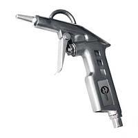 Пистолет продувочный короткий с дополнительным наконечником, 120 мм, INTERTOOL (PT-0804)