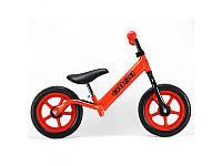 Беговел PROFI KIDS детский 12 д., колеса EVA, пластиковый обод, красный, M3436-3