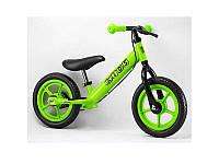 Беговел PROFI KIDS детский 12 д., колеса EVA, пластиковый обод, тормоз, зеленый, M3440B-4