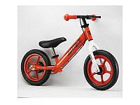 Беговел PROFI KIDS детский 12 д., колеса EVA, пластиковый обод, тормоз, красный, M3440B-3