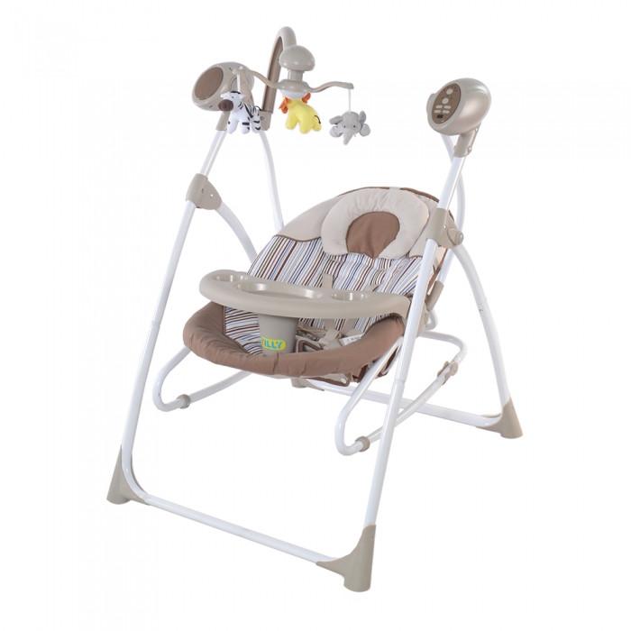 *Детский шезлонг- качалка (колыбель) с пультом Tilly Nanny Beige арт. 0005