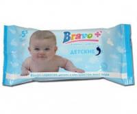Салфетки влажные BRAVO Детские с ароматом алоэ-вера 15шт.