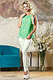 Блуза 2158 бирюзовый, фото 2