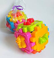 Логический куб-сортер,сортер с фигурками животных,куб сортер KW-50-102, фото 1