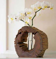 Ваза для цветов из натурального дерева, модель 1