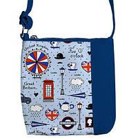 """Сумка детская через плечо с принтом """"Англия"""", сумки для девочек"""