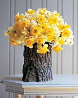 Ваза для цветов из натурального дерева, модель 2