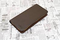 Мужской кошелек портмоне Vorpe коричневый