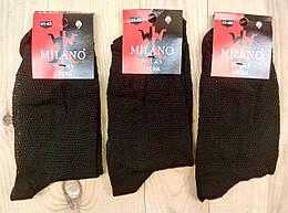 Летние мужские носки сетка Milano 41-45р НМЛ-06333