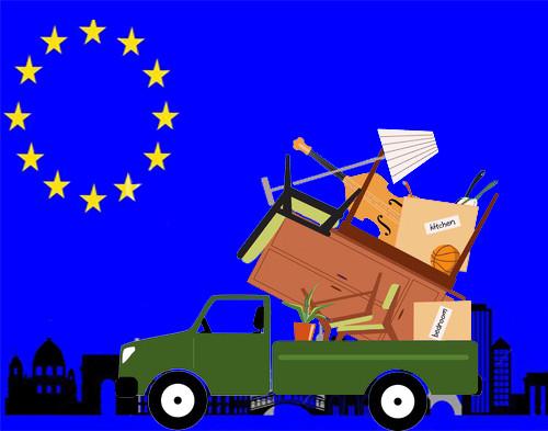 Перевозка личных вещей в страны Европы