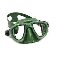 Купить маска для подводной охоты PICASSO DEEP GREEN двухстекольная Пикассо дип грин