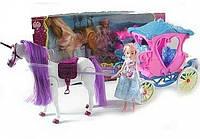 Карета детская с куклой и лошадью