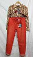 Оранжевые укороченные джинсы Best Connections Германия 40 размер М- Л  бедра 98-105