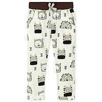 Летние легкие штаны для девочки 6 лет (мягкая широкая резинка, хлопок) ТМ Jumping Beans