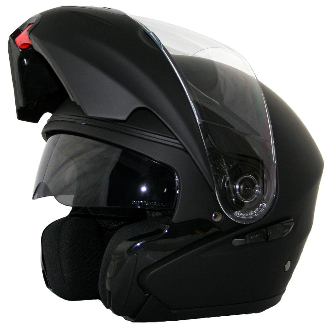 Мотоциклетный шлем NAXA F02b r.XS + BLENDA Черный матовый