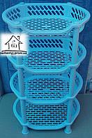 Этажерка овальная Efe plastics (голубая)