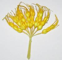Колоски искусственные 12 см, желтые