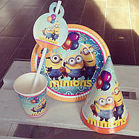 Набор детской посуды для праздника Миньоны