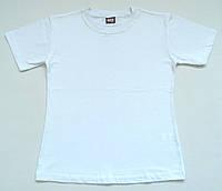 """Белая однотонная футболка (11-12 лет), """"Atabay"""" Турция."""