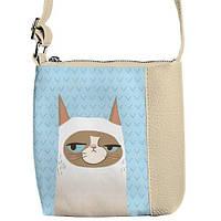 """Сумка детская через плечо SBR с принтом """"Кошка"""", сумки для девочек"""