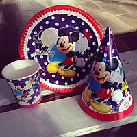Посуда одноразовая на детский праздник Микки Маус