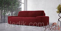 Чехол на диван натяжной 4-х местный Испания, Glamour Bordeaux Гламур бордовый