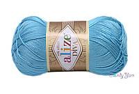 ALIZE Diva , Небесно-голубой №346