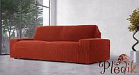 Чехол на диван натяжной 3-х местный Испания, Glamour Rustic Гламур терракот, фото 1