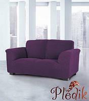 Чехол на диван натяжной 3-х местный Испания, Glamour Malva мальва