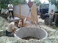 Копание сточных сливных ям Копание выгребной ямы Монтаж  септика Устройство канализационного колодца