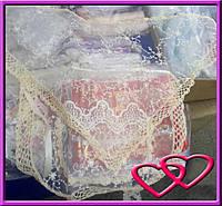 Косынка и фартух для невесты ручной работы