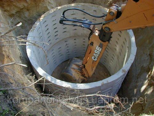 Монтаж канализационных колодцев. Устройство выгребной ямы. Копка сточных ям. Копание питьевого колодца.