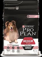 Purina Pro Plan Dog Medium Adult с комплексом OPTIDERMA 14кг+4кг в подарок - корм для собак c лососем