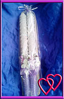 Свечи венчальные Розы 45 см, цвет в ассортименте Сереневый