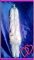 Свечи венчальные Розы 55 см, цвет в ассортименте  Белый