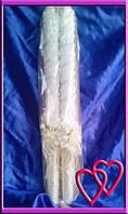 Свечи венчальные Розы 55 см, цвет в ассортименте  Молочный