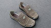 Стильные летние мужские сандалии Cevivo из натуральной кожи