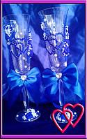 Свадебные бокалы Два сердца 0215