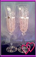 Свадебные бокалы Версаль 005, цвета в ассортименте
